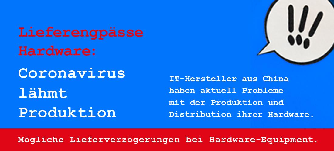 Lieferengpässe wegen Coronavirus