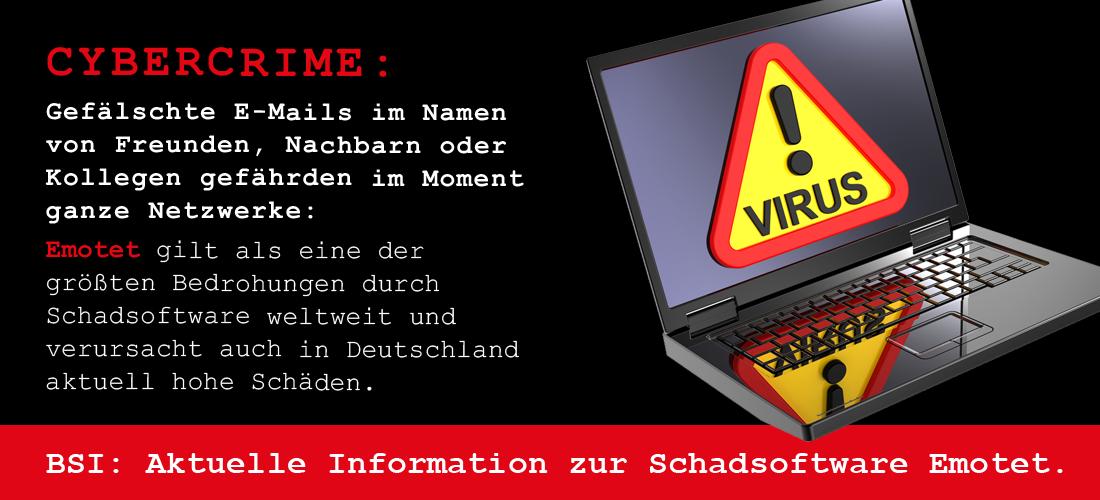 Cybercrime: Emotet gilt als eine der größten Bedrohungen durch Schadsoftware weltweit.