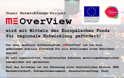 MEOverView EU-EFRE-Förderung