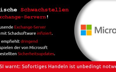 Kritische Schwachstellen in Exchange-Servern!